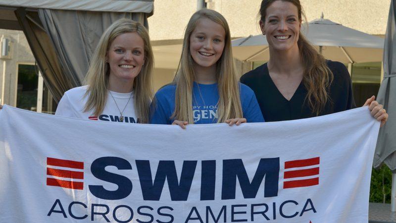 EAST COBB STUDENT JOINS OLYMPIANS TO SUPPORT SWIM ACROSS AMERICA