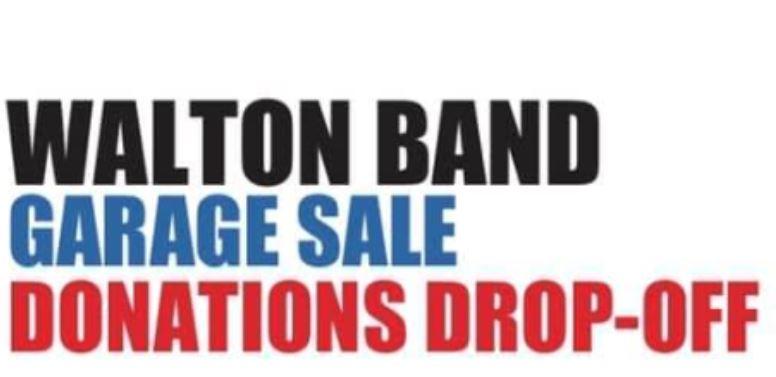 Walton Marching Raider Band Announces Location of 2019 Garage Sale Donation Site