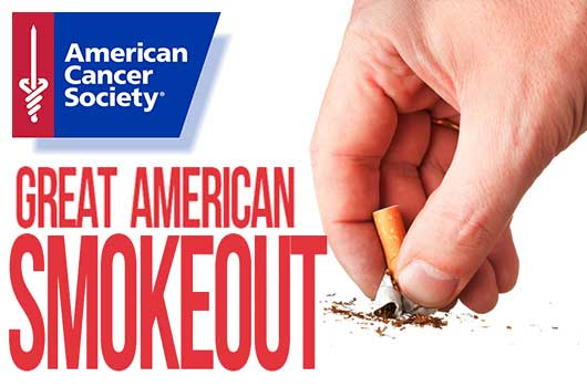 THE GREAT AMERICAN SMOKEOUT: NOVEMBER 21
