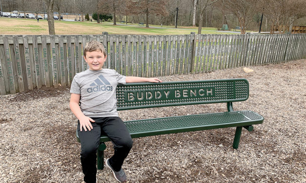 NEW BUDDY BENCH AT EAST COBB PARK HELPS KIDS FIND PLAYMATES
