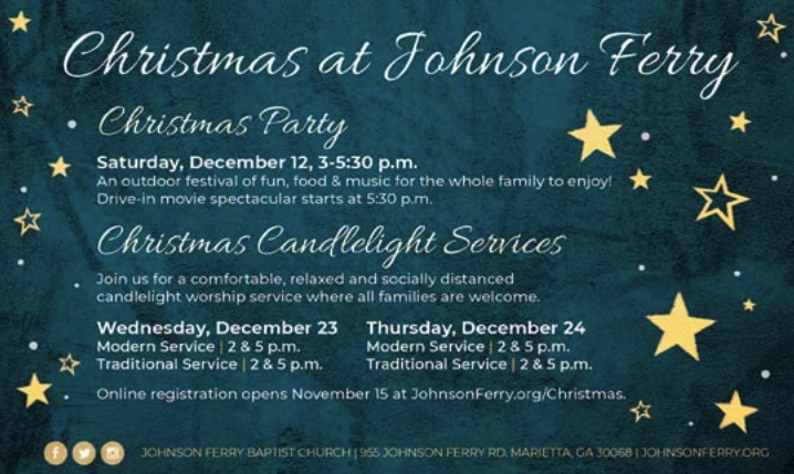 Christmas at Johnson Ferry: Christmas Party