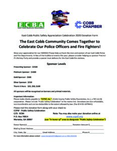 LOCAL BUSINESS & COMMUNITY LEADERS RAISING FUNDS FOR EAST COBB PUBLIC SAFETY CELEBRATIONS 3